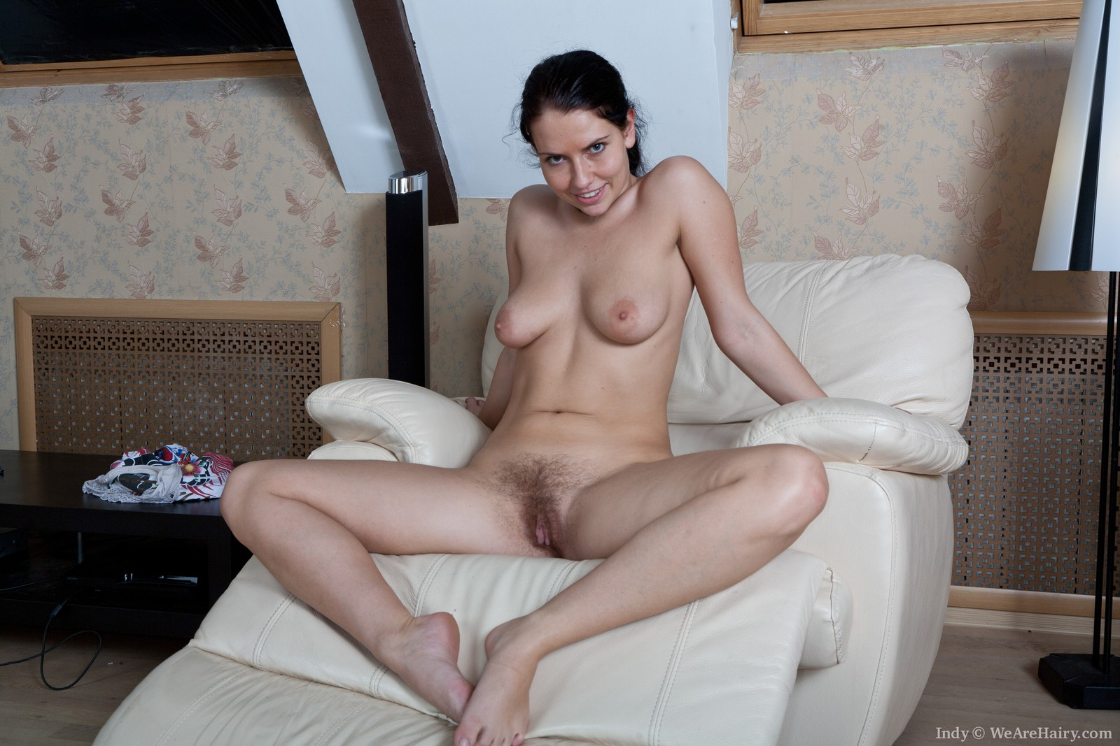 Indy Shows Off Hairy Pussy